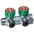 Коллектор проходной регулирующий (2 отвода)  3/4 б/гаек